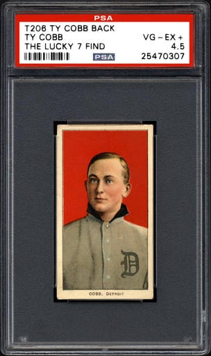 This undated photo provided by Professional Sports Authenticator shows one of seven Ty Cobb baseball cards, a baseball-card find of a lifetime, that were found crumpled paper bag in a dilapidated house.