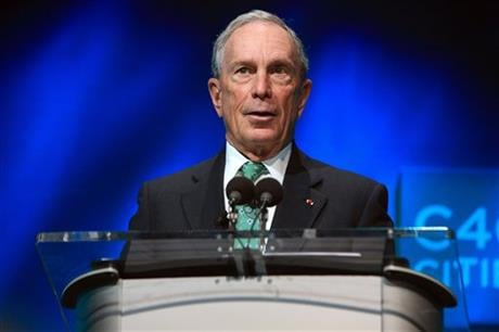 In this Dec. 3, 2015, file photo, former New York Mayor Michael Bloomberg speaks during the C40 cities awards ceremony, in Paris. Bloomberg, the billionaire former three-term mayor of New York City, has decided against mounting a third-party White House b