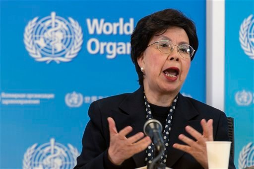 China's Margaret Chan, General Director of the World Health Organization, WHO, speaks during a press conference about a second meeting of the Zika Virus Infection, at the headquarters of the World Health Organization in Geneva, Switzerland, Tuesday, March