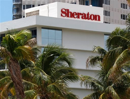 This July 25, 2011, file photo, shows the Sheraton Fort Lauderdale Beach Hotel, a member of the Starwood Hotels and Resorts group, in Fort Lauderdale, Fla.