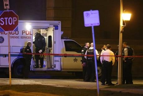 Chicago Police Department spokesman Anthony Guglielmi tweeted that the officers were taken to a hospital Monday night. (Nuccio DiNuzzo/Chicago Tribune via AP)