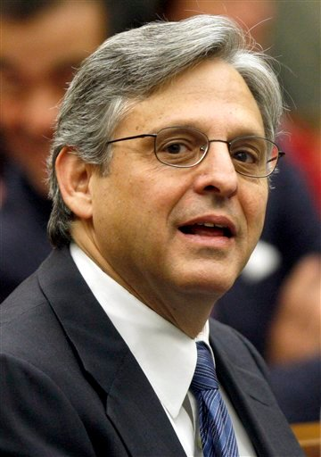 FILE - In this May 1, 2008, file photo, Judge Merrick B. Garland is seen at the federal courthouse in Washington.