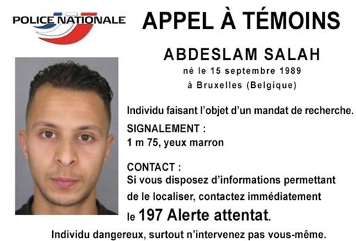 Undated file photo released Nov. 13, 2015, by French Police shows 26-year old Salah Abdeslam, wanted by police in connection with recent terror attacks in Paris, as police investigations continue. (Police Nationale via AP)