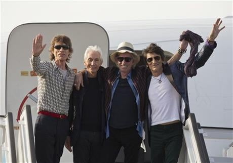 The Stones are performing a free concert in Havana on Friday, becoming the most famous act to play Cuba since its 1959 revolution. (AP Photo/Ramon Espinosa)
