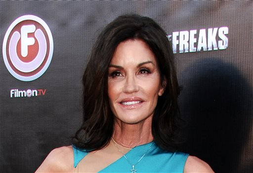 """FILE - In this June 29, 2015 file photo, Janice Dickinson arrives at the Los Angeles premiere of """"Lord of the Freaks."""""""