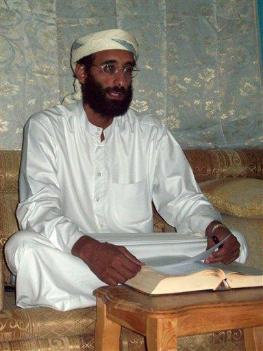 This Oct. 2008 file photo shows Imam Anwar al-Awlaki, a U.S.-born Yemeni cleric and recruiter for al-Qaida in the Arabian Peninsula, in Yemen. Born in New Mexico, al-Awlaki has used his personal website to encourage Muslims around the world to kill U.S. t