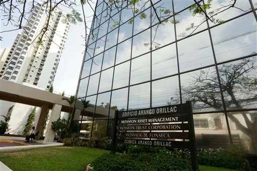 A marquee of the Arango Orillac Building lists the Mossack Fonseca law firm in Panama City, Sunday, April 3, 2016. German daily Sueddeutsche Zeitung says it has obtained a vast trove of documents detailing the offshore financial dealings of the rich and f