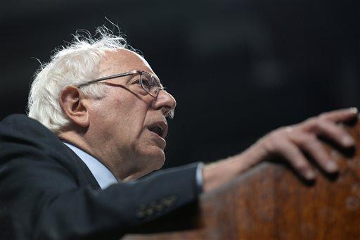 Democratic presidential hopeful Bernie Sanders speaks at Temple University, Wednesday, April 6, 2016, in Philadelphia.