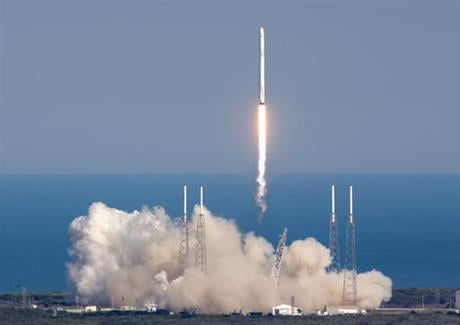 The rocket will deliver almost 7,000 pounds of science research, crew supplies, and hardware to the International Space Station. (AP Photo/John Raoux)