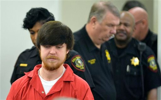"Ethan Couch is brought into court for a hearing at Tim Curry Justice Center in Fort Worth, Texas, Wednesday, April 13, 2016. The judge ordered Couch, the Texas teenager who used an ""affluenza"" defense in a fatal drunken-driving wreck, to serve nearly two"