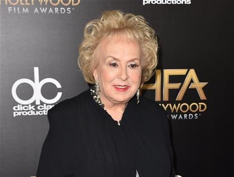 Doris Roberts arrives at the Hollywood Film Awards in Beverly Hills, Calif. Family spokeswoman said Monday, April 18, 2016, that Roberts died overnight Sunday in her sleep in Los Angeles. She was 90. (Photo by Jordan Strauss/Invision/AP, File)