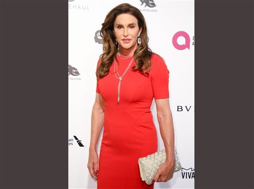 In this Feb. 28, 2016 file photo, Caitlyn Jenner arrives at the 2016 Elton John AIDS Foundation Oscar Viewing Party at West Hollywood Park in West Hollywood, Calif. Caitlyn Jenner has taken up Donald Trump's offer and used the women's restroom at one of h