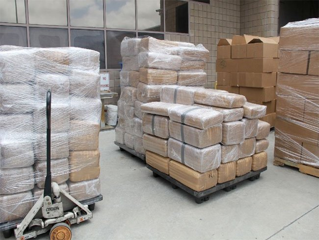 CBP officers extracted 587 packages of marijuana from the trailer, weighing 14,219 pounds with a street value of $7.1 million.