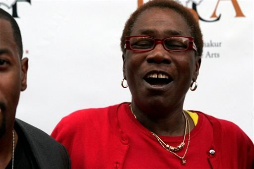 In this June 16, 2011 file photo, Afeni Shakur, mother of the late Tupac Shakur, attends the 2Pac 40th Birthday Concert Celebration in Atlanta.