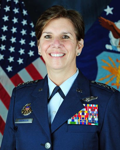 U.S. Air Force photo shows Gen. Lori Robinson, the new commander of the North American Aerospace Defense Command (NORAD), and U.S. Northern Command at Peterson Air Force Base, Colo. (U.S. Air Force via AP)