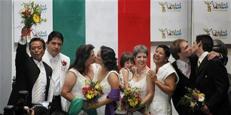 Mexican President Enrique Pena Nieto on Tuesday, May 17, 2016, proposed legalizing gay marriage, a move that would enshrine on a national level a Supreme Court ruling last year that it was unconstitutional for states to bar same-sex couples from wedding.(