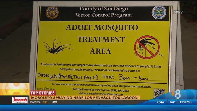 Mosquito spraying near Los Penasquitos Lagoon - CBS News 8 - San Diego, CA News Station - KFMB Channel 8