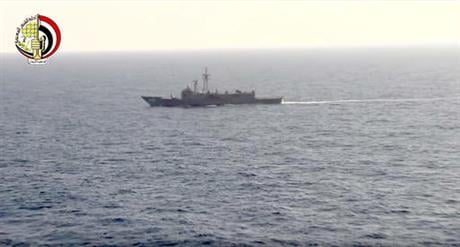 In this Thursday, May 19, 2016 video image released by the Egyptian Defense Ministry, an Egyptian ship searches in the Mediterranean Sea for the missing EgyptAir flight 804 plane which crashed after disappearing from radar early Thursday morning while car