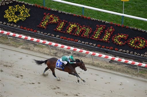 Always Sunshine ridden by Frank Pennington wins the Sagamore Spirit Maryland Sprint Stakes horse race ahead of the 141st Preakness Stakes horse race at Pimlico Race Course, Saturday, May 21, 2016, in Baltimore.