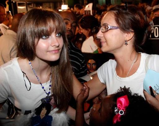 This Aug. 29, 2012 file photo shows Paris Jackson, left, daughter of the late pop icon Michael Jackson.