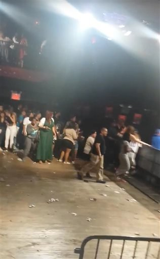 Police say several were injured in a deadly shooting inside the concert venue, where hip-hop artist T.I. was scheduled to perform. (Elijah Rodriguez via AP)
