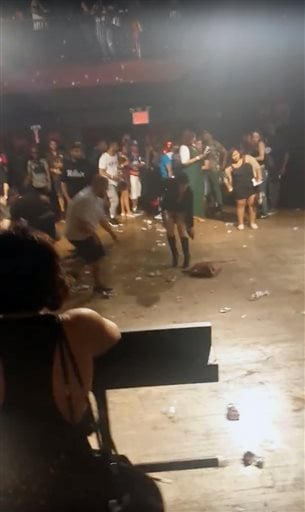 This image made from a video shows people inside Irving Plaza, near Manhattan's Union Square in New York after a shooting Wednesday, May 25, 2016.  (Elijah Rodriguez via AP)