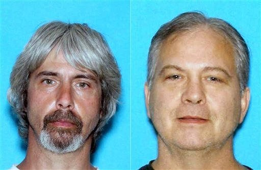 (Snohomish County Sheriff Office via AP, File ). FILE - These undated booking photos provided by the Snohomish County Sheriff Office shows Tony Reed, left and John Reed.