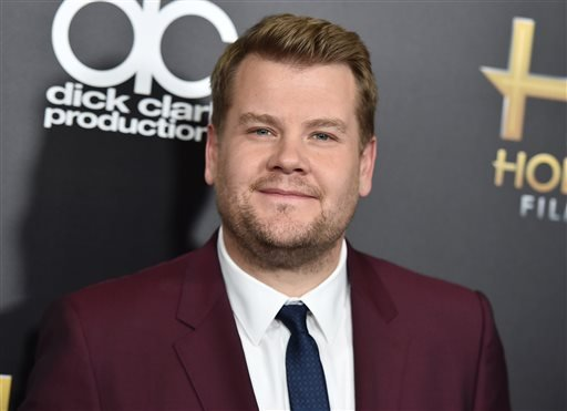 Nov. 1, 2015 file photo, James Corden arrives at the Hollywood Film Awards in Beverly Hills, Calif. (Photo by Jordan Strauss/Invision/AP, File)