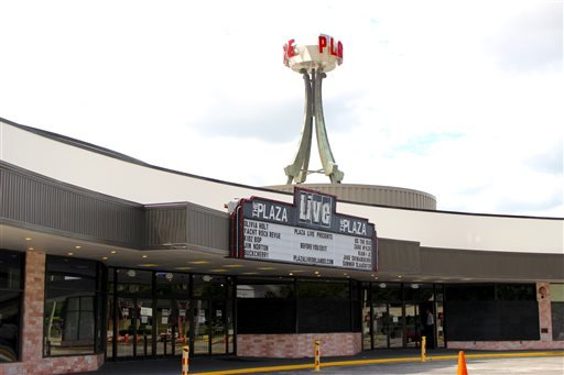 The exterior of The Plaza Live theater, the location where singer Christina Grimmie was shot and killed.