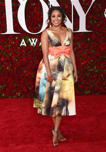Alicia Quarles arrives at the Tony Awards at the Beacon Theatre on Sunday, June 12, 2016, in New York. (Photo by Charles Sykes/Invision/AP)