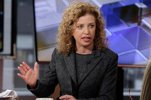 In this March 21, 2016 file photo, Democratic National Committee (DNC) Chair, Rep Debbie Wasserman Schultz, D-Fla. is interviewed in New York.