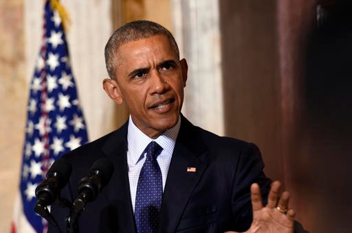 President Barack Obama speaks at the Treasury Department in Washington, Tuesday, June 14, 2016, following a meeting with his National Security Council. (AP Photo/Susan Walsh)