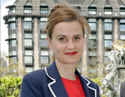 In this May 12, 2015 file photo, Labour Member of Parliament Jo Cox poses for a photograph.