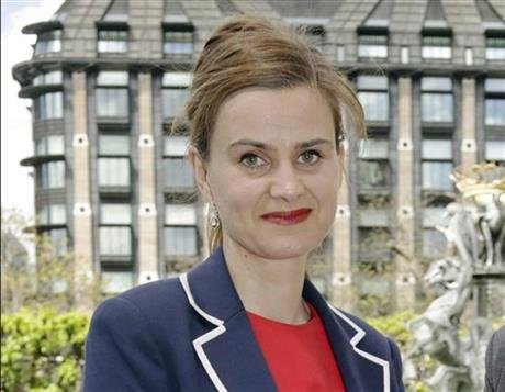 Labour Member of Parliament Jo Cox poses for a photograph. British lawmaker Cox has been injured in a shooting incident near Leeds, in West Yorkshire, England, it has been reported, Thursday June 16, 2016. (Yui Mok/PA via AP, File)