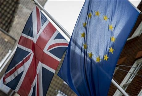 A national referendum on Thursday June 23, will dictate if Britain will leave the European Union, or remain part of the EU bloc. (Lauren Hurley / PA via AP)