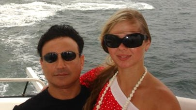 Homeowner Michael Arya and girlfriend Marina Ryzhkova