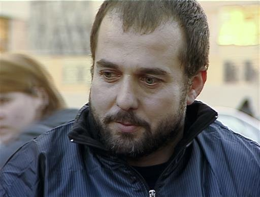 In this frame grab taken from Rustavi2 footage dated 2012, Akhmed Chatayev speaks to the media in Tbilisi, Georgia.