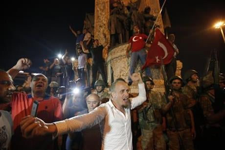 "Turkey's armed forces said it ""fully seized control"" of the country Friday and its president responded by calling on Turks to take to the streets in a show of support for the government. AP"