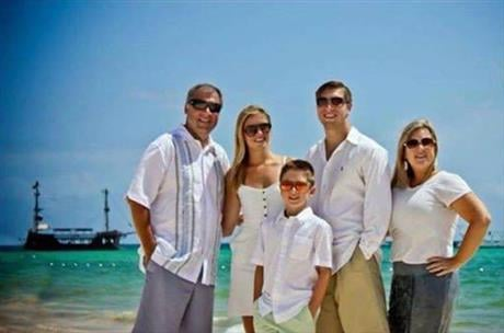 This photo provided by Jess Davis shows the Copeland family, from left, Sean, Maegan, Brodie, Austin and Kim. Davis, a family friend, said Sean Copeland and his son Brodie were killed Thursday, July 14, 2016 when a Frenchman of Tunisian descent drove a tr