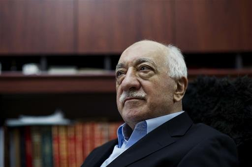 In this March 15, 2014 file photo, Turkish Muslim cleric Fethullah Gulen, sits at his residence in Saylorsburg, Pa.