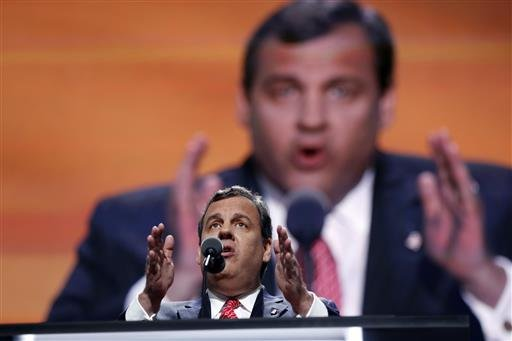 New Jersey Gov. Chris Christie speaks during the second day session of the Republican National Convention in Cleveland, Tuesday, July 19, 2016.