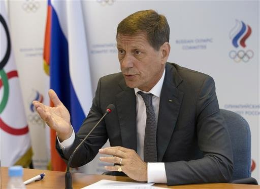 President of Russia's Olympic Committee Alexander Zhukov opens the meeting of Russia's Olympic Committee in Moscow, Wednesday, July 20, 2016.