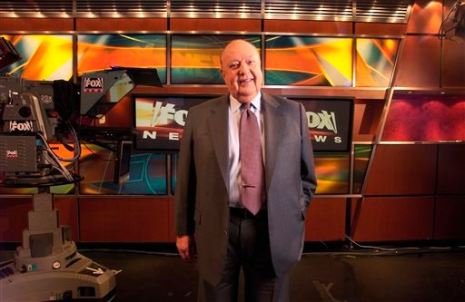 In a Sept. 29, 2006 file photo, Fox News CEO Roger Ailes poses at Fox News in New York. 21st Century Fox says Ailes is resigning.