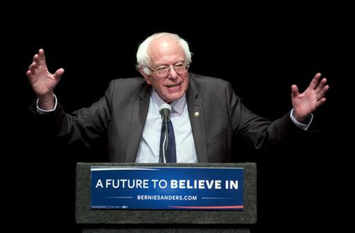 In this June 24, 2016, file photo, Sen. Bernie Sanders, I-Vt., speaks in Albany, N.Y.