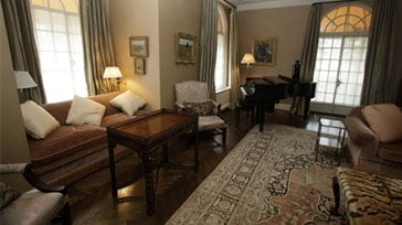 This photo taken Tuesday, Sept. 8, 2009 in New York shows the living room of Bernard Madoff's penthouse apartment on the Upper East Side of Manhattan. (AP Photo/Mary Altaffer)