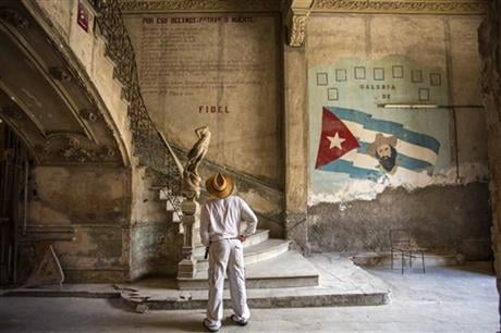 After a decade out of the public eye, Fidel Castro has surged back in the run-up to his birthday next month as the inspiration for Cubans who want to maintain Communist orthodoxy in the face of mounting pressures to loosen control. (AP Photo/Desmond Boyla