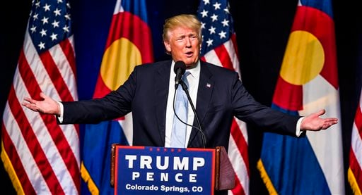 Republican presidential candidate Donald J. Trump speaks Friday, July 29, 2016, in Colorado Springs, Colo.