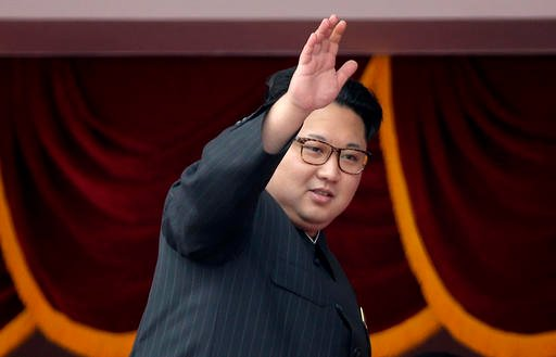In this May 10, 2016 file photo, North Korean leader Kim Jong Un waves at parade participants at the Kim Il Sung Square in Pyongyang, North Korea.