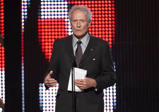 In this June 4, 2016 file photo, Clint Eastwood presents the hero award at the Guys Choice Awards at Sony Pictures Studios in Culver City, Calif.