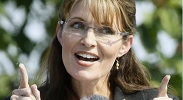 FILE - In this July 26, 2009, file photo then Alaska Gov. Sarah Palin gives her resignation speech during a ceremony in Fairbanks, Alaska, where Palin turned over the governorship to Lt. Gov. Sean Parnell.